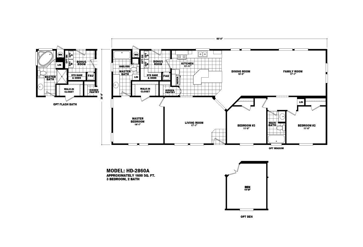 Homes Direct Value HD-2860A Layout
