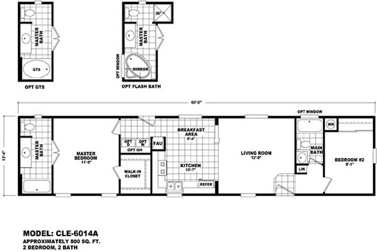 Cle Single-section CLE-6014A Layout