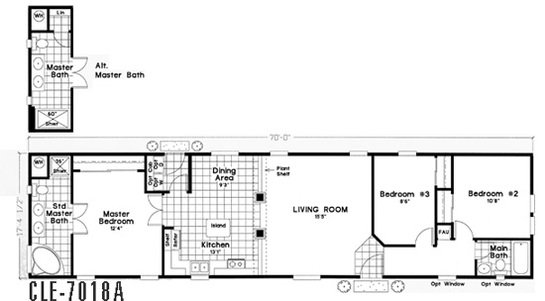 Cle Single-section CLE-7018A Layout