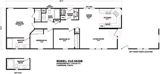 Cle Multi-section CLE-5620B Layout