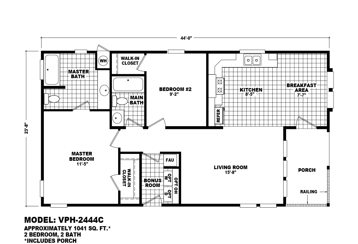 Value Porch VPH-2444C Layout