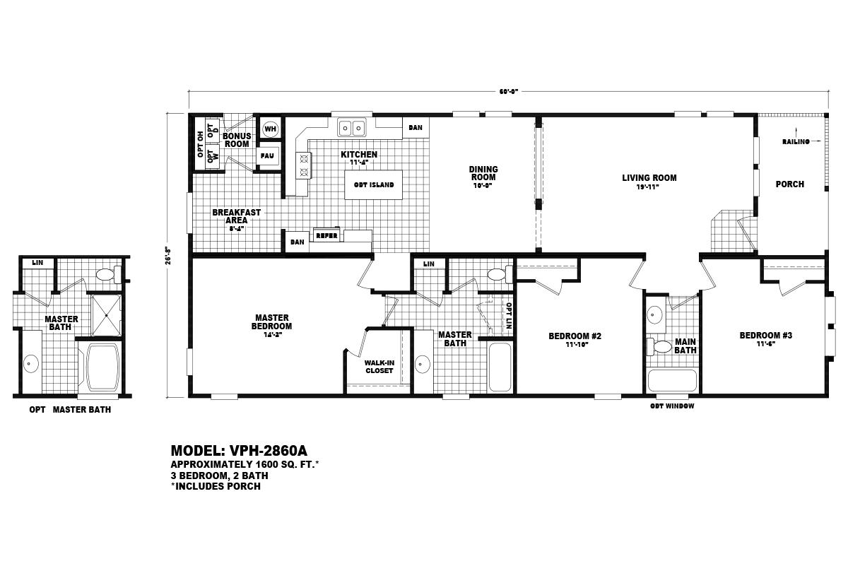 Value Porch VPH-2860A Layout