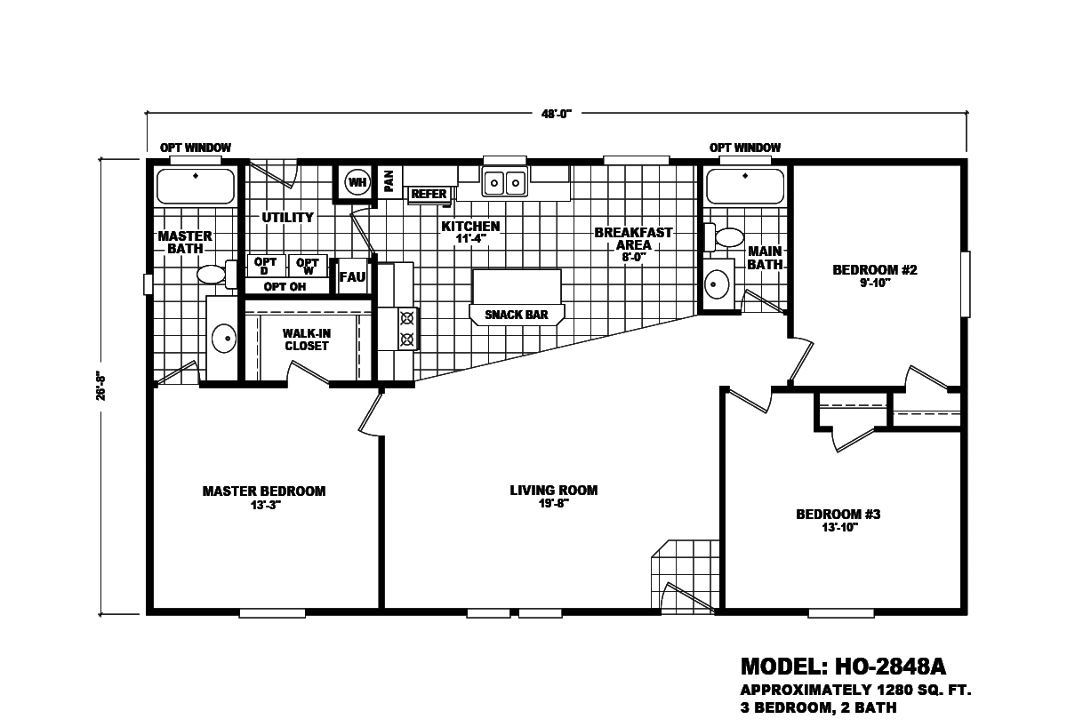 Home Outlet Series HO-2848A Layout