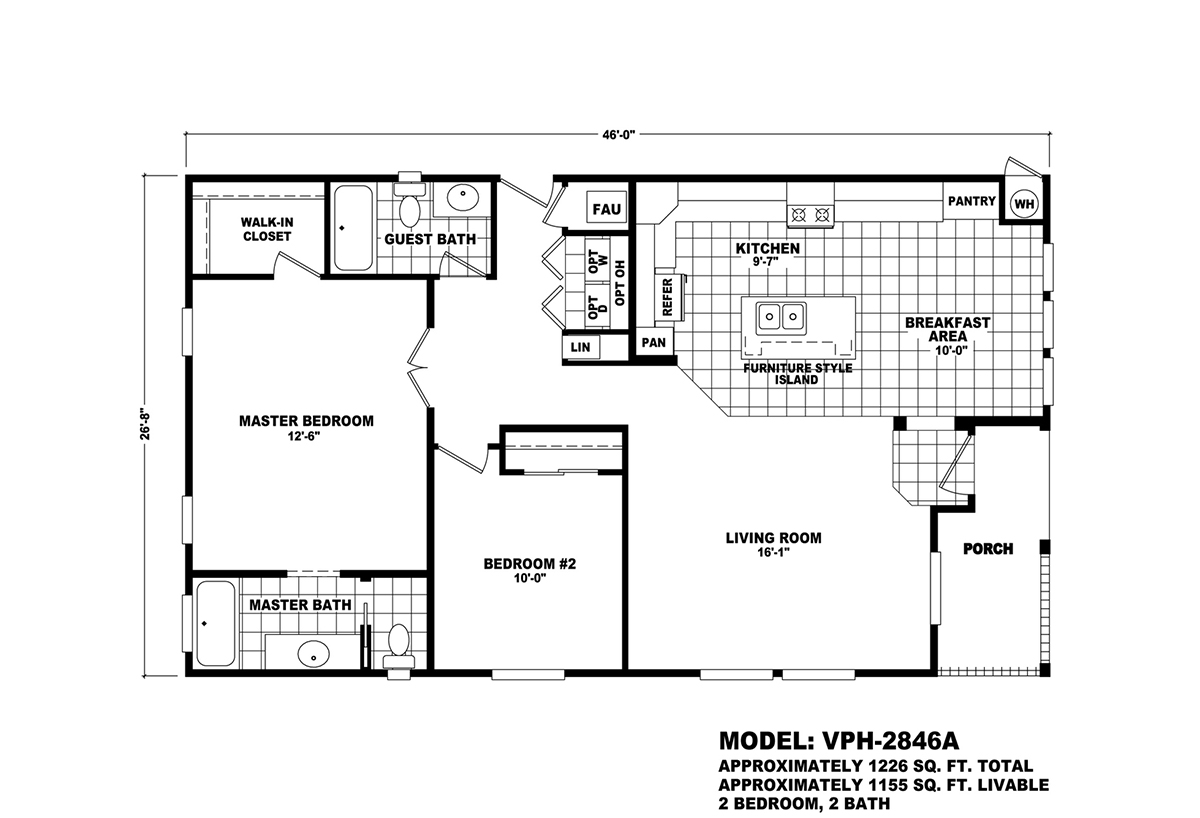 Value Porch VPH-2846A Layout