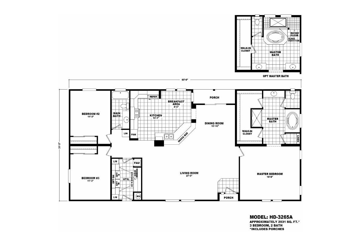 Homes Direct Value HD-3265A Layout