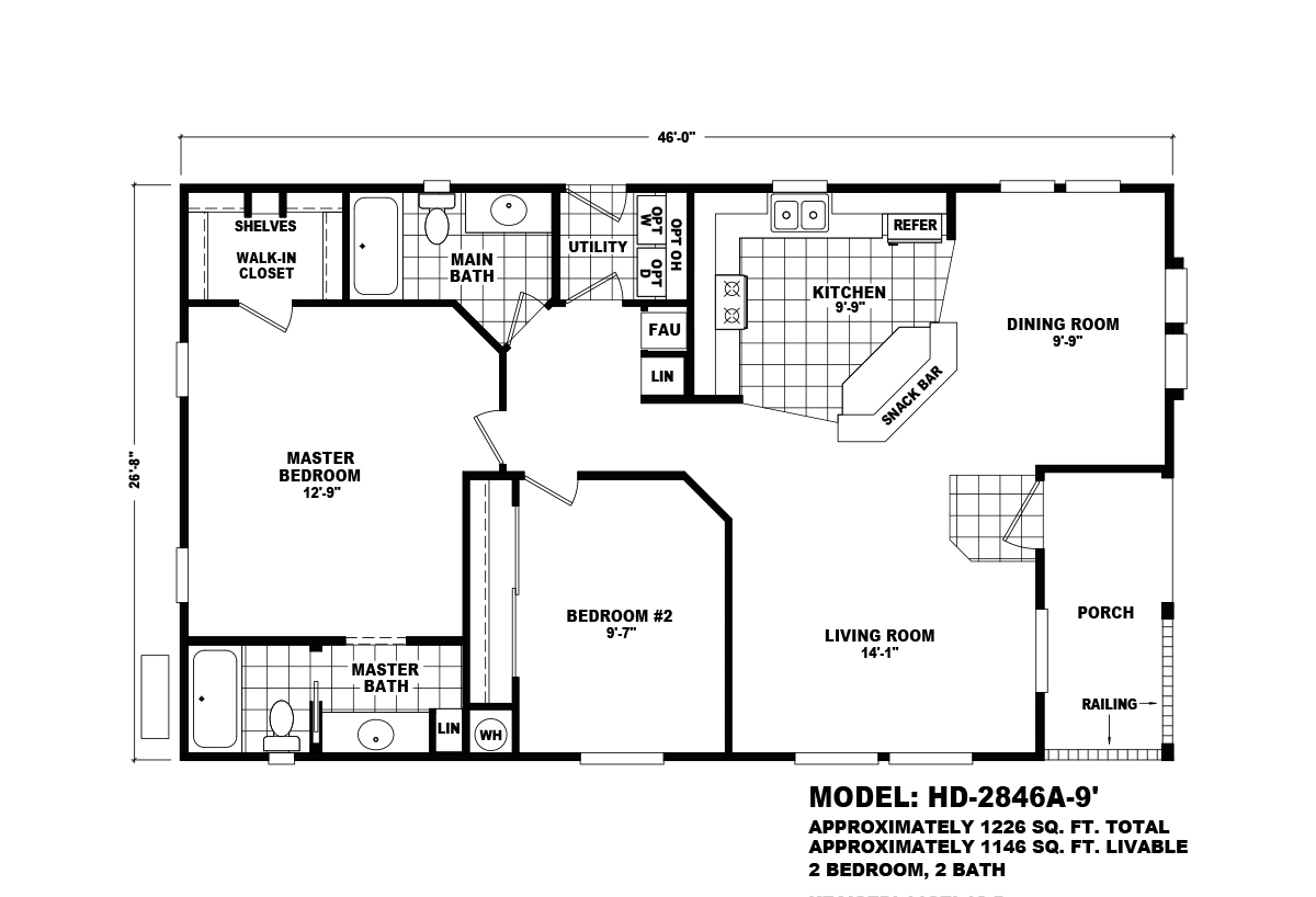Homes Direct Value HD-2846A-9 Layout