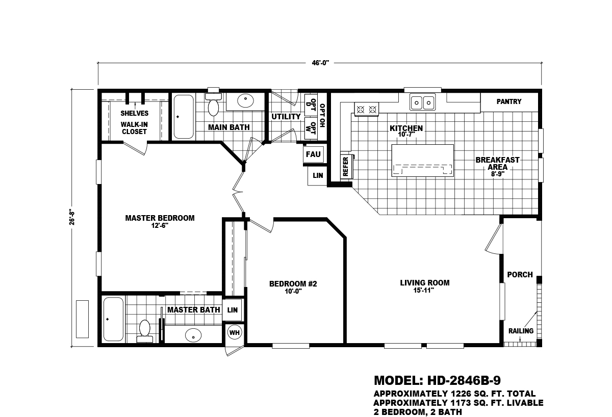Homes Direct Value HD-2846B-9 Layout