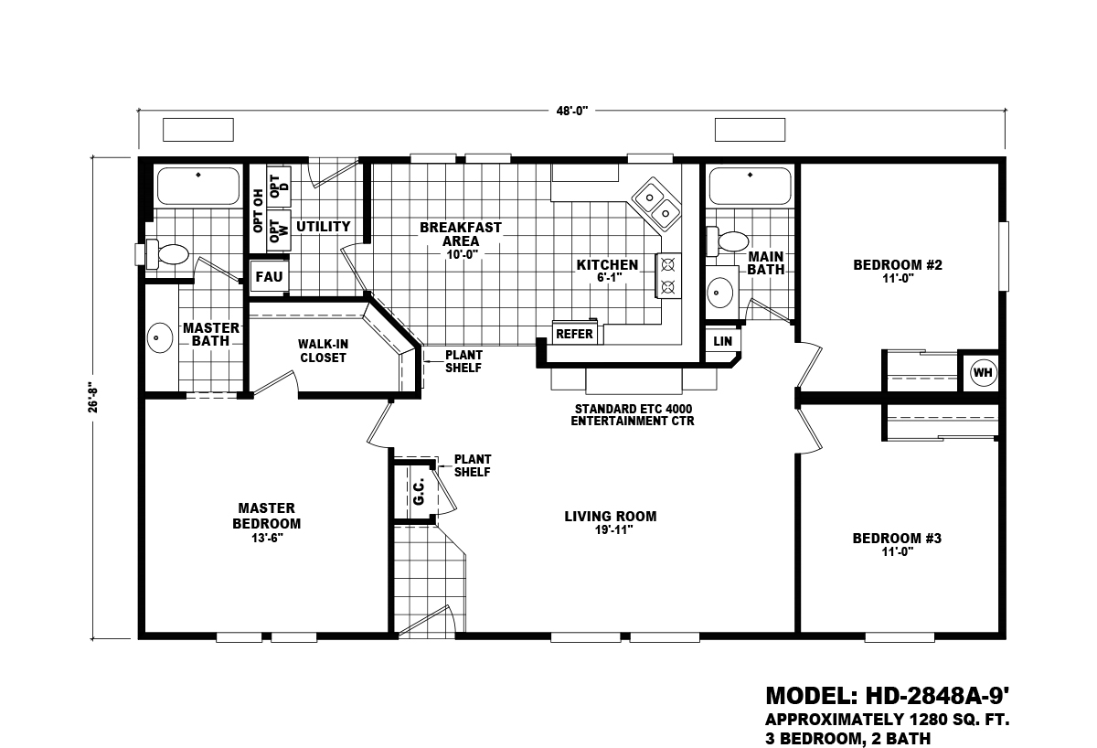 Homes Direct Value HD-2848A-9 Layout