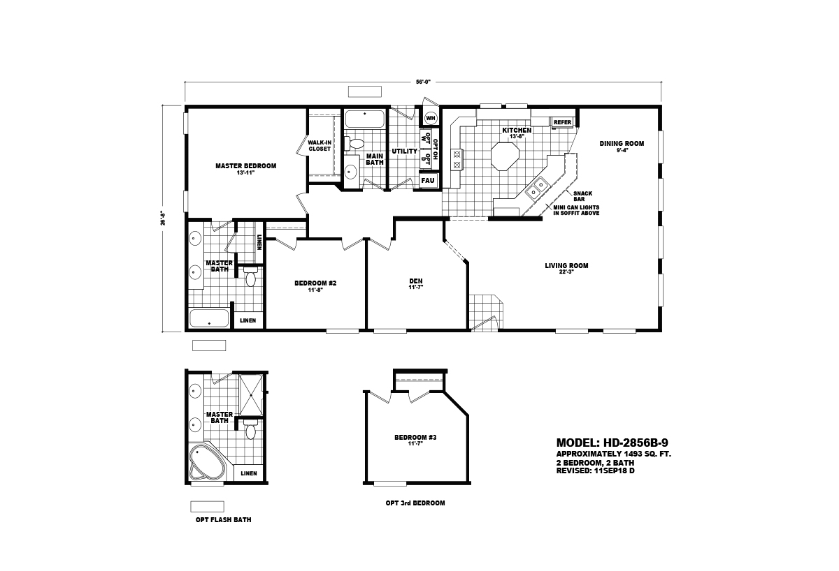 Homes Direct Value HD-2856B-9 Layout