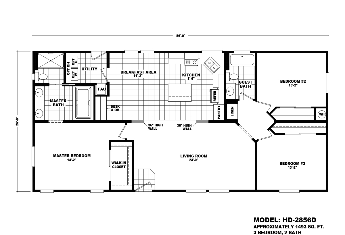 Homes Direct Value HD-2856D Layout