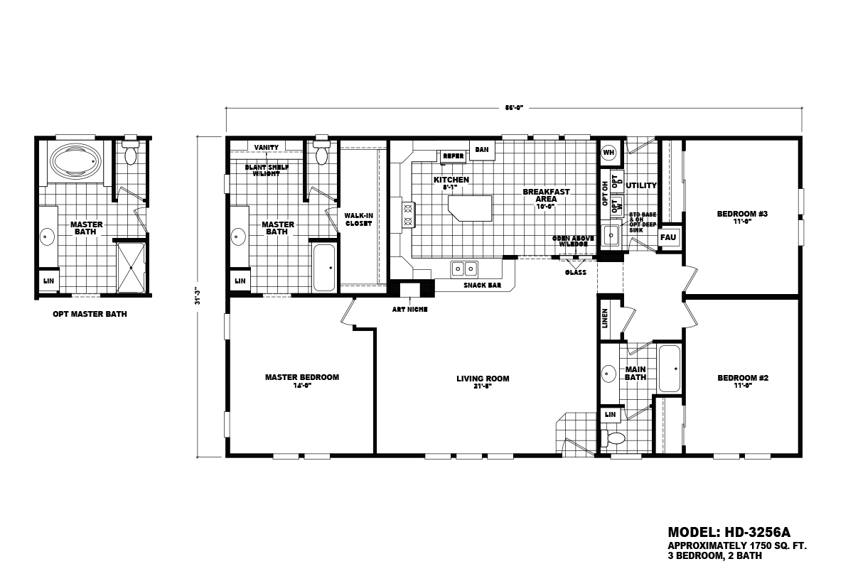 Homes Direct Value HD-3256A Layout