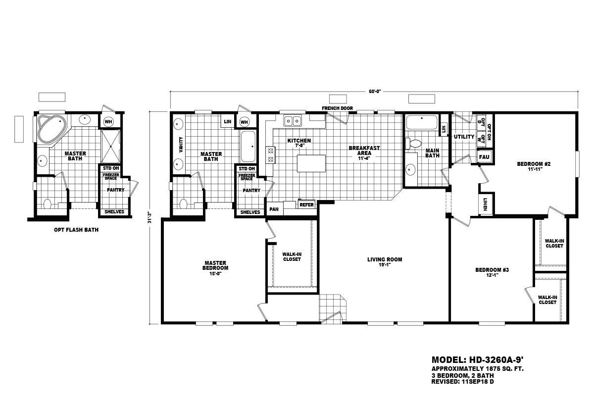 Homes Direct Value HD-3260A-9 Layout