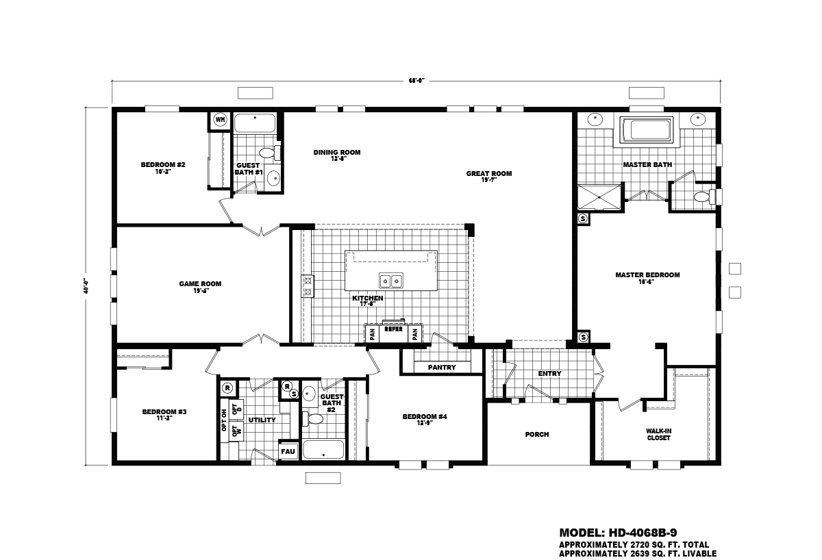 Homes Direct Value HD-4068B-9 Layout