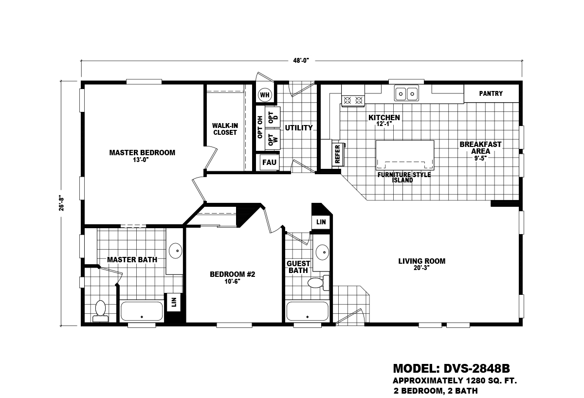 Durango Value DVS-2848B Layout