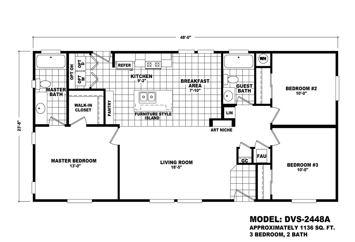 Durango Value DVS-2448A Layout