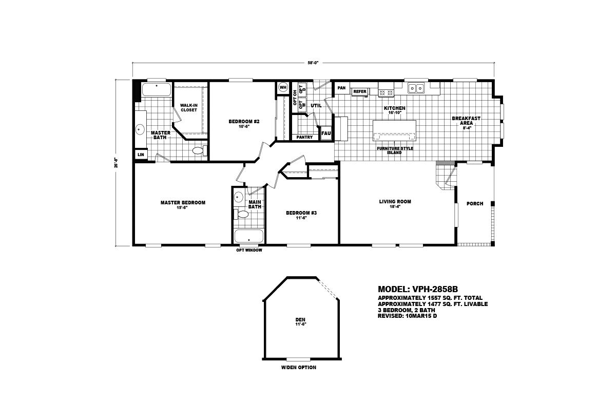 Value Porch VPH-2858B Layout