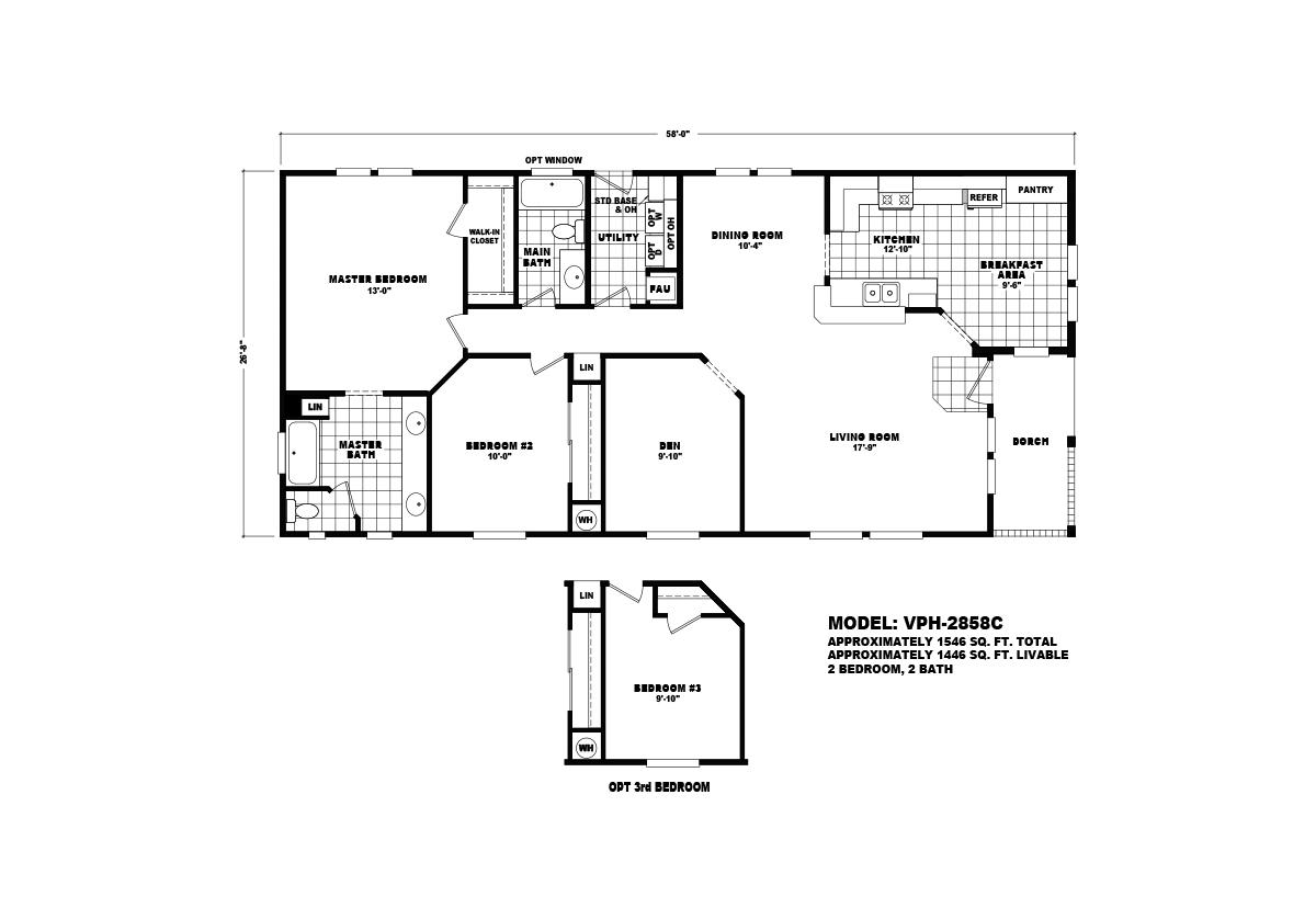 Value Porch VPH-2858C Layout