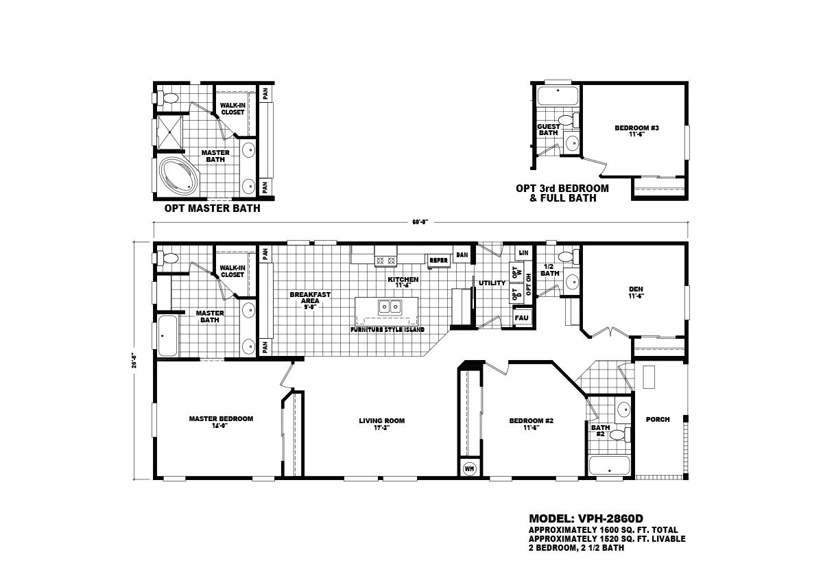 Value Porch VPH-2860D Layout