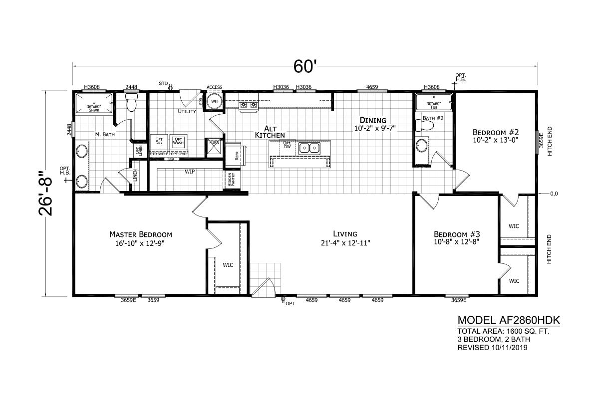 Homes Direct AF2860HDK Layout