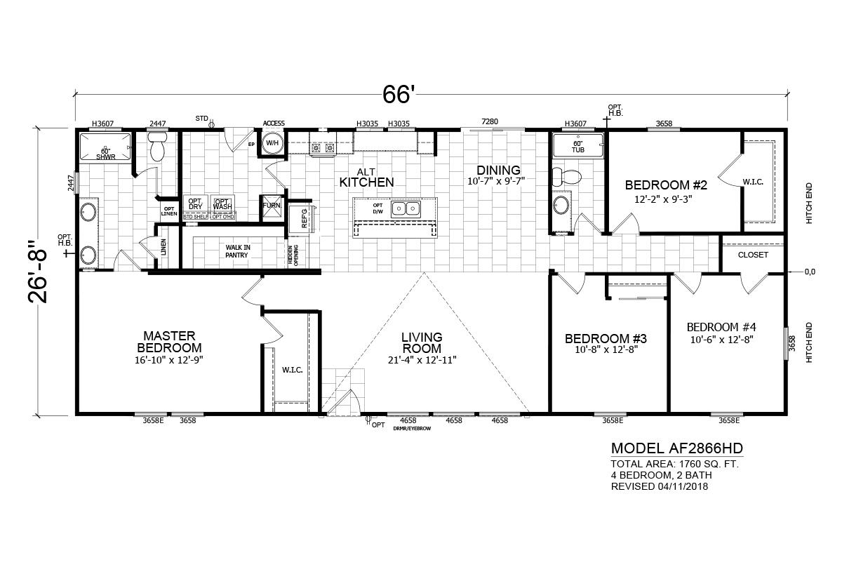 Homes Direct AF2866HD Layout