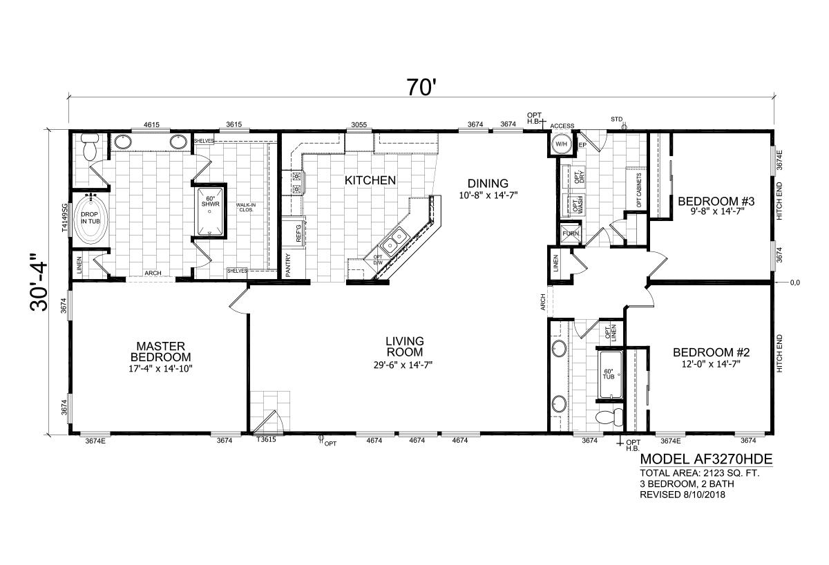 Homes Direct AF3270HDE Layout