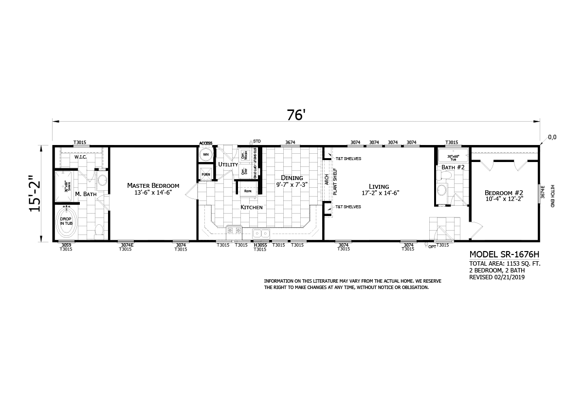 Homes Direct SR1676H Layout