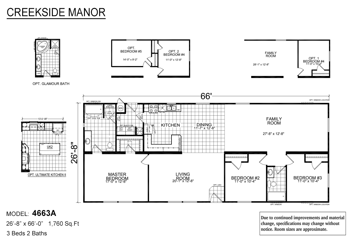 Creekside Manor CM-4663A Layout