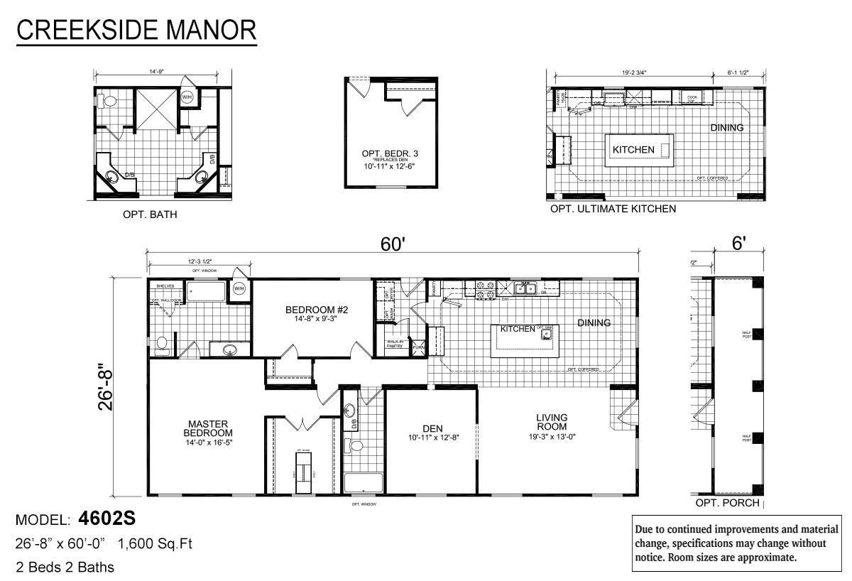 Creekside Manor CM-4602S Layout