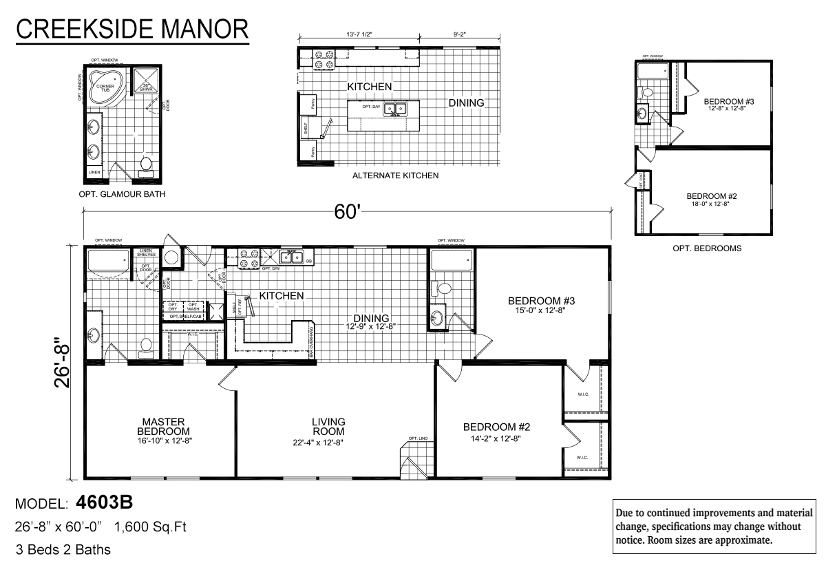 Creekside Manor CM-4603B Layout