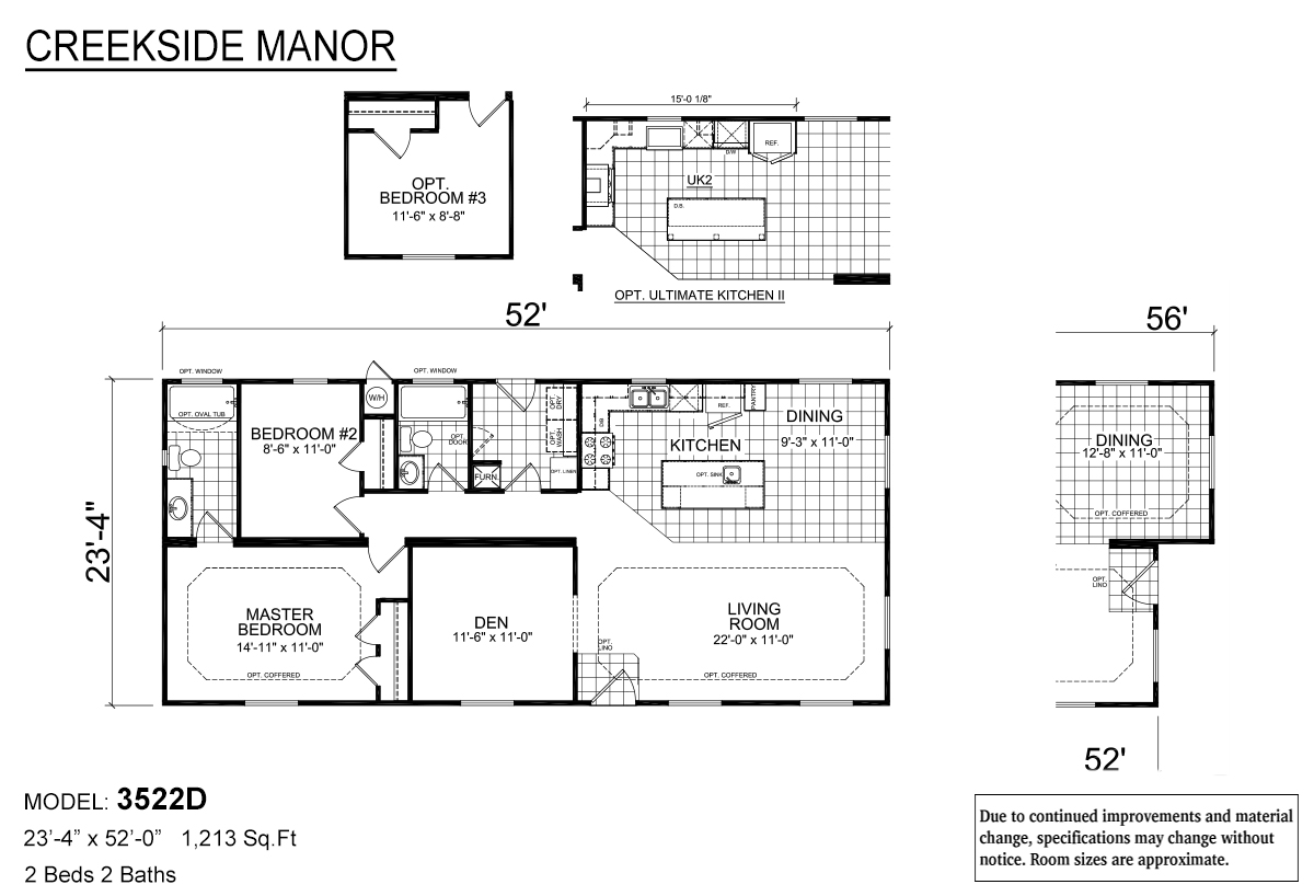 Creekside Manor 3522D Layout