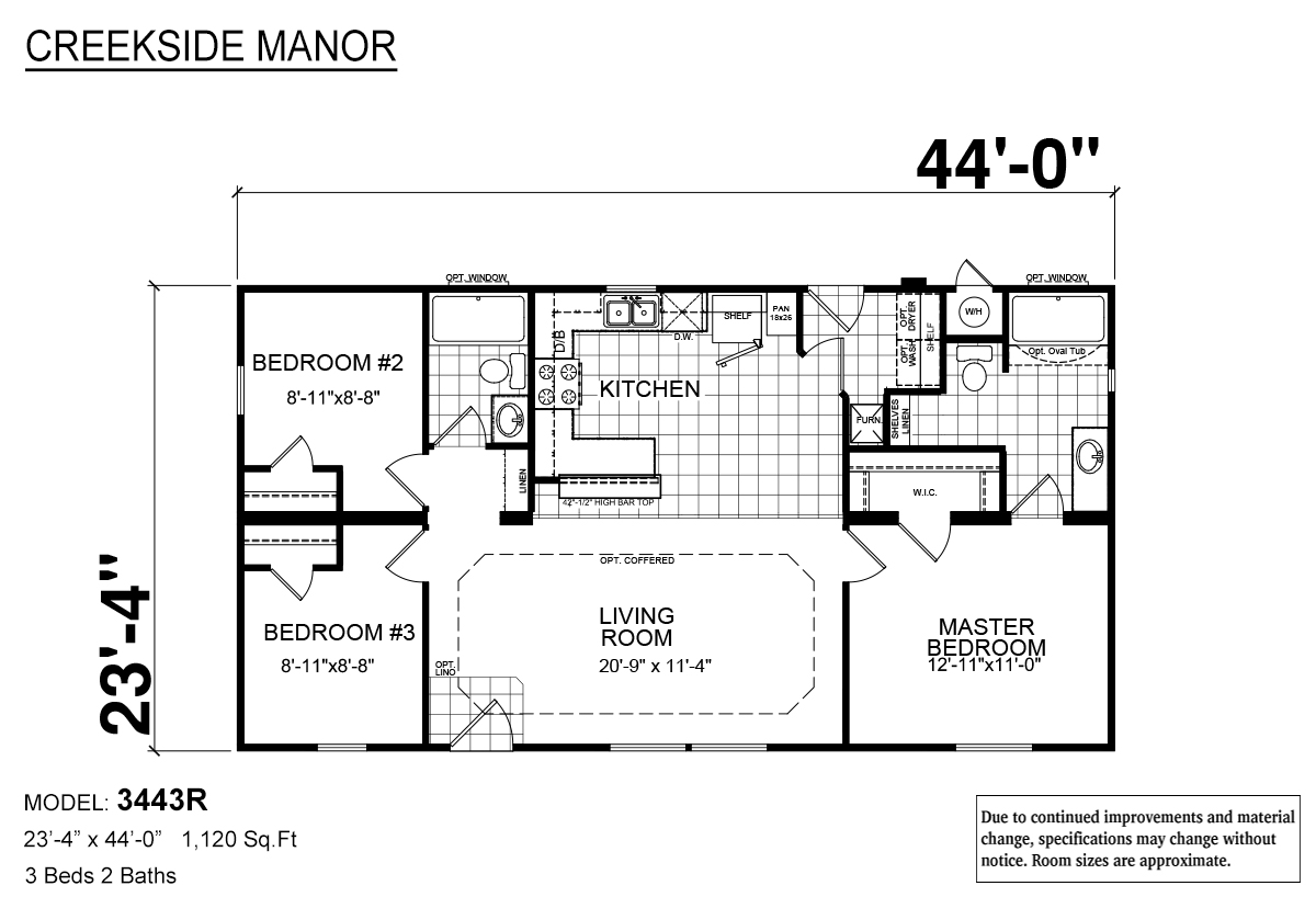 Creekside Manor CM-3443R Layout