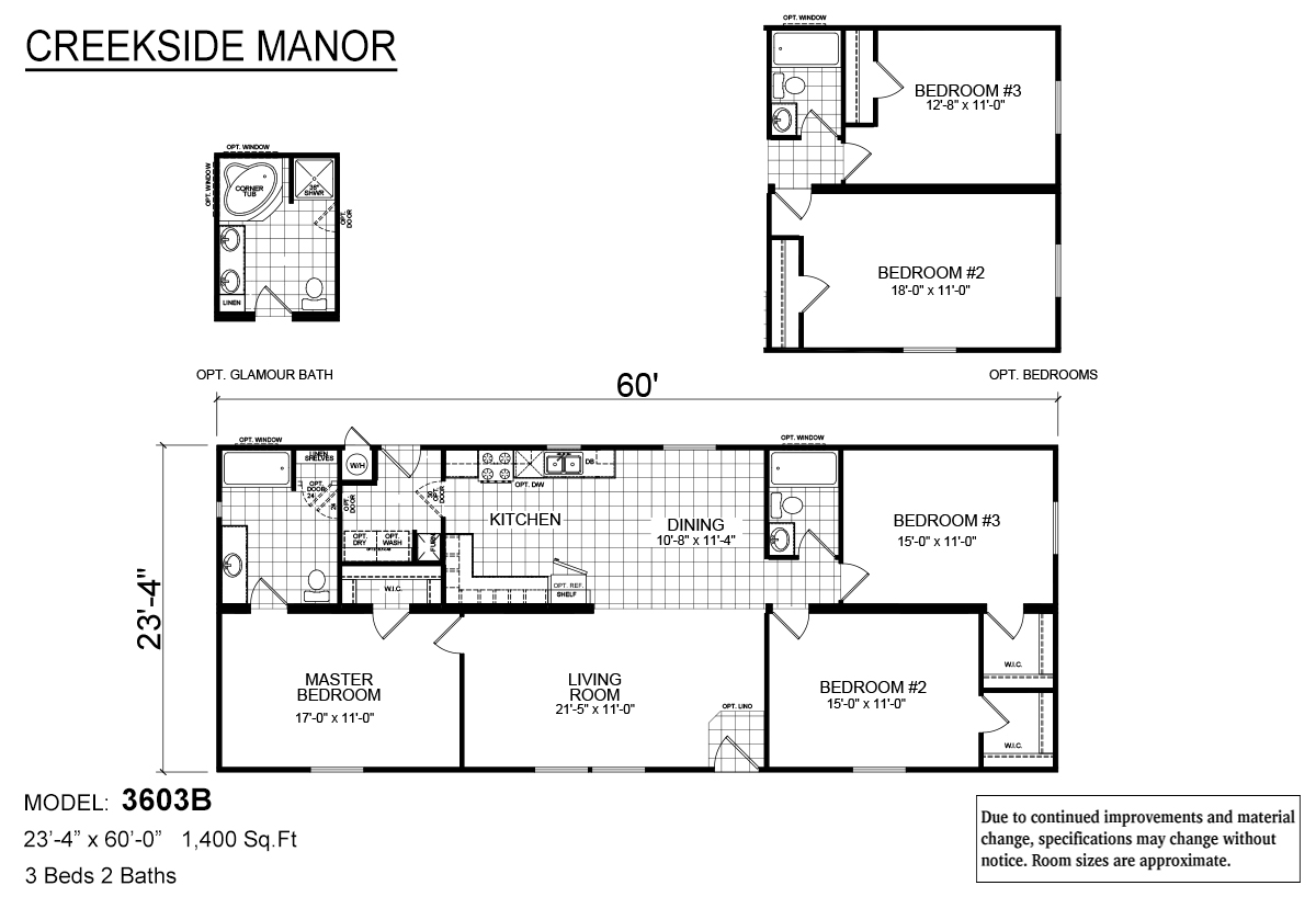 Creekside Manor CM-3603B Layout