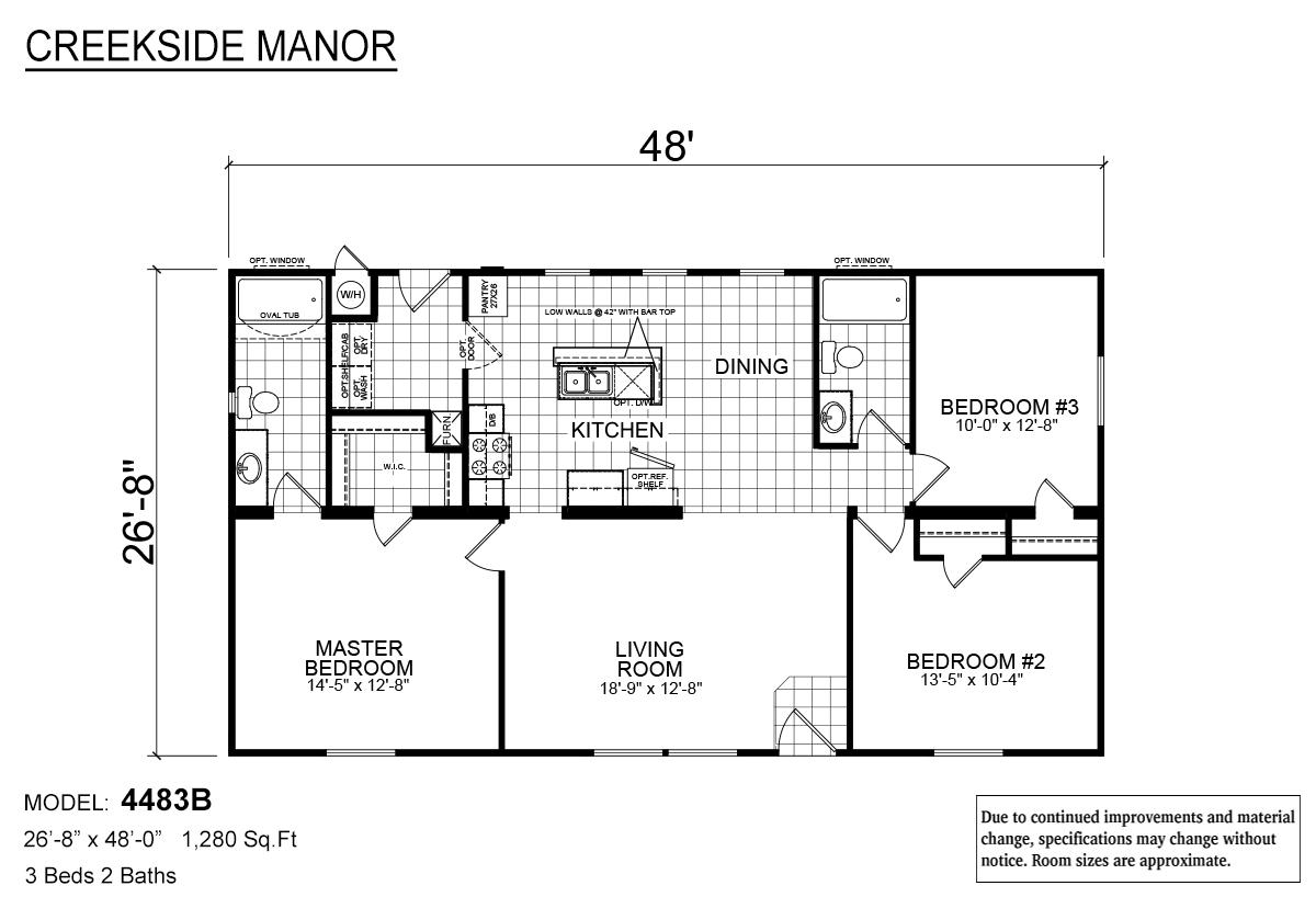 Creekside Manor CM-4483B Layout