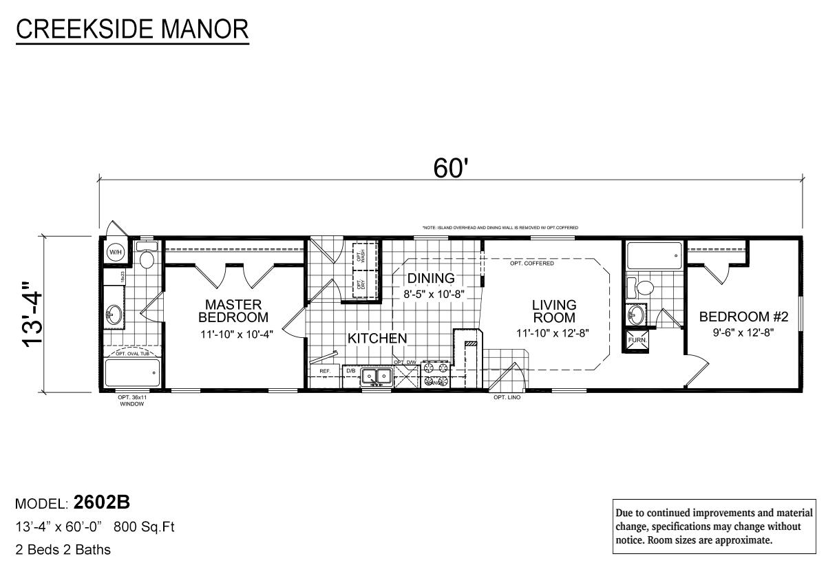 Creekside Manor CM-2602B Layout