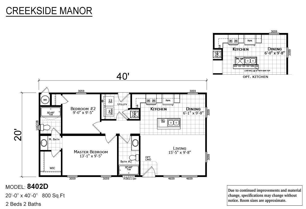 Creekside Manor CM-8402D Layout