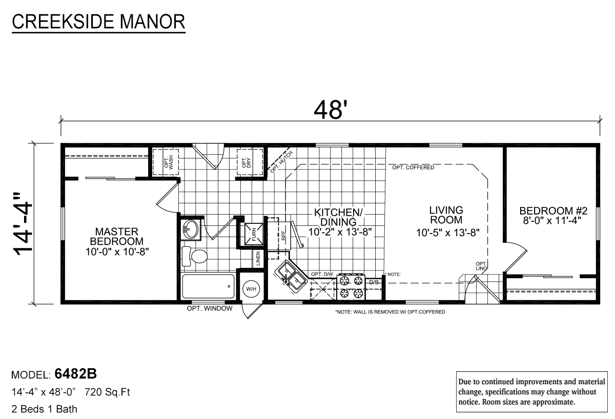 Creekside Manor CM-6482B Layout