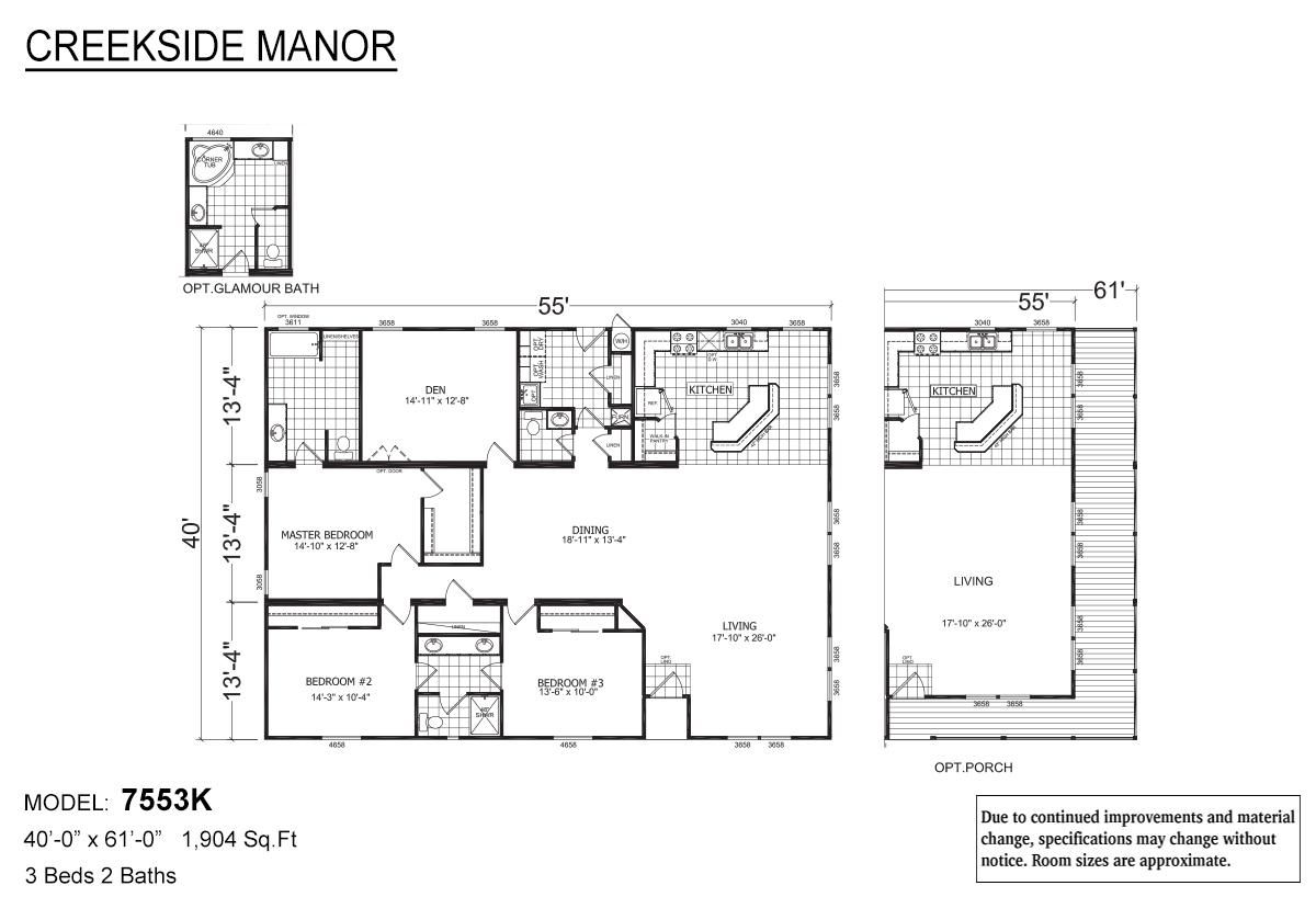 Creekside Manor CM-7553K Layout