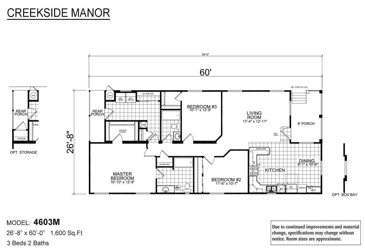 Creekside Manor CM-4603M Layout