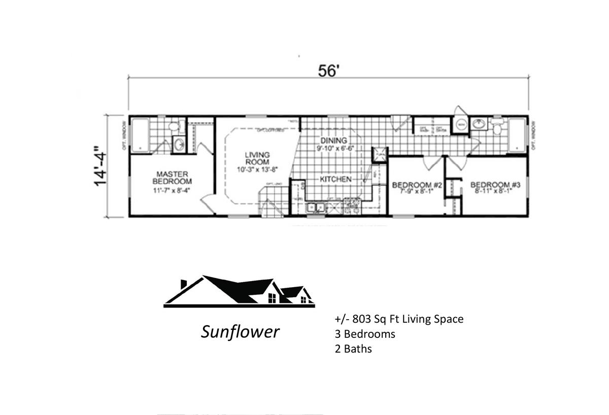 Custom Cottage - The Sunflower