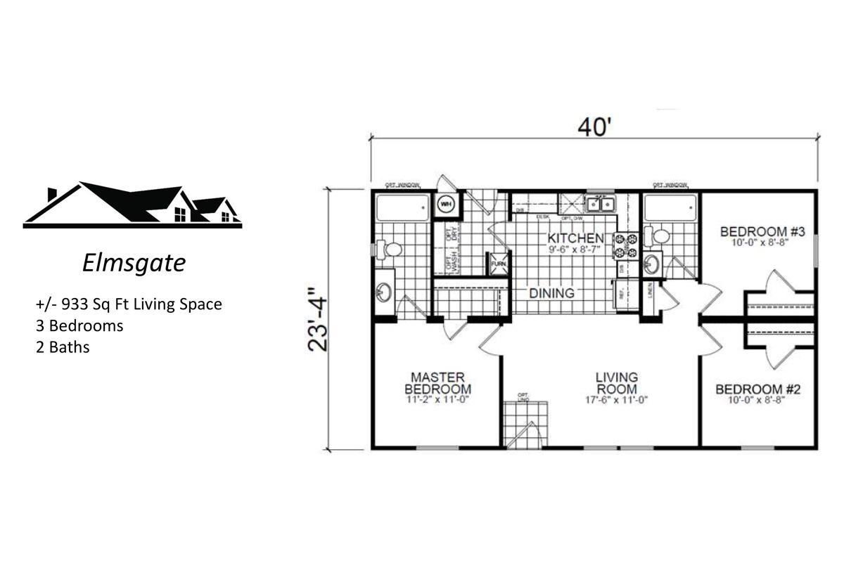 Custom Cottage The Elmsgate Layout