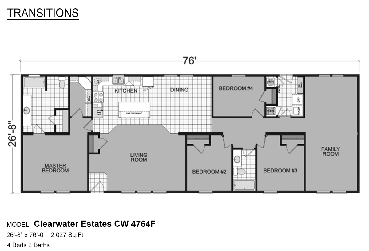 Transitions Clearwater Estates CW-4764F Layout