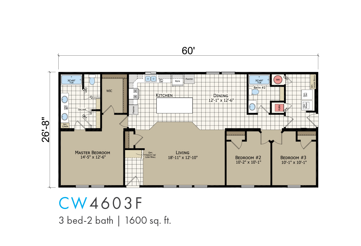 Transitions Clearwater Estates CW-4603F Layout