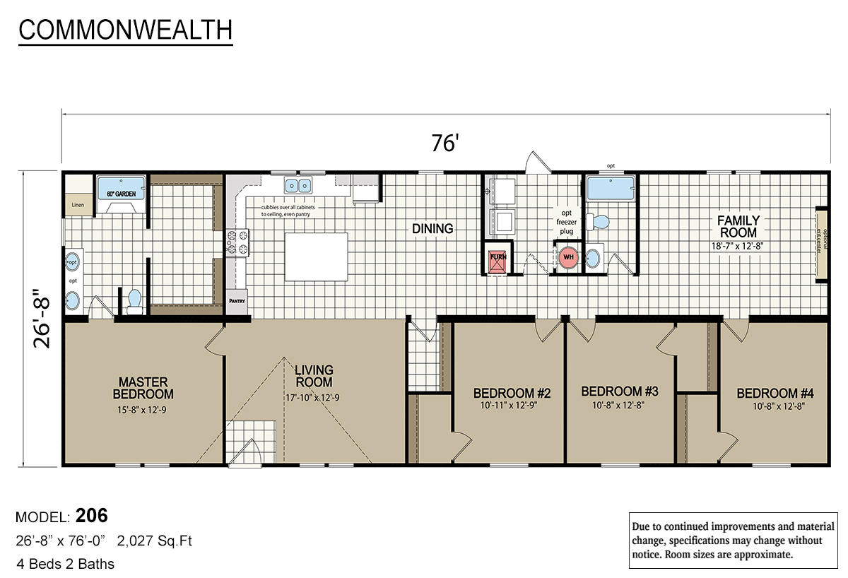Commonwealth 206 Layout