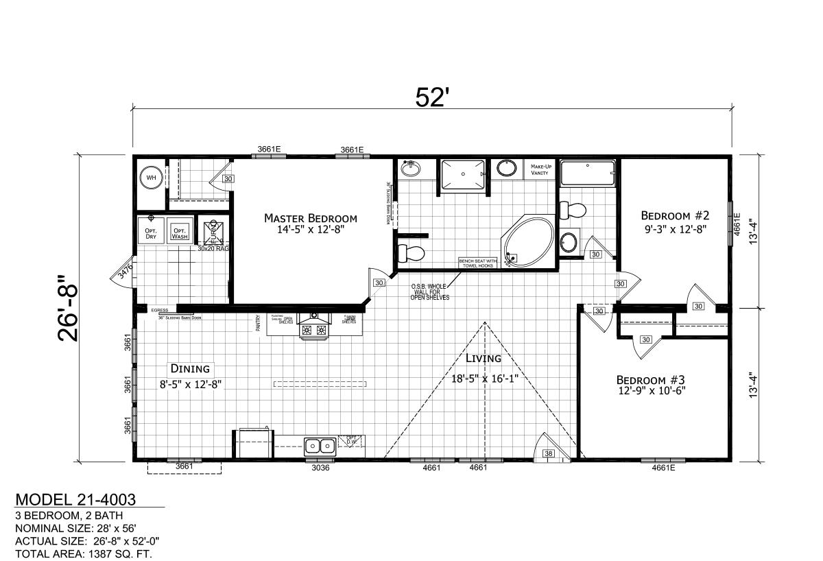 Ridgecrest 21-4003 Layout