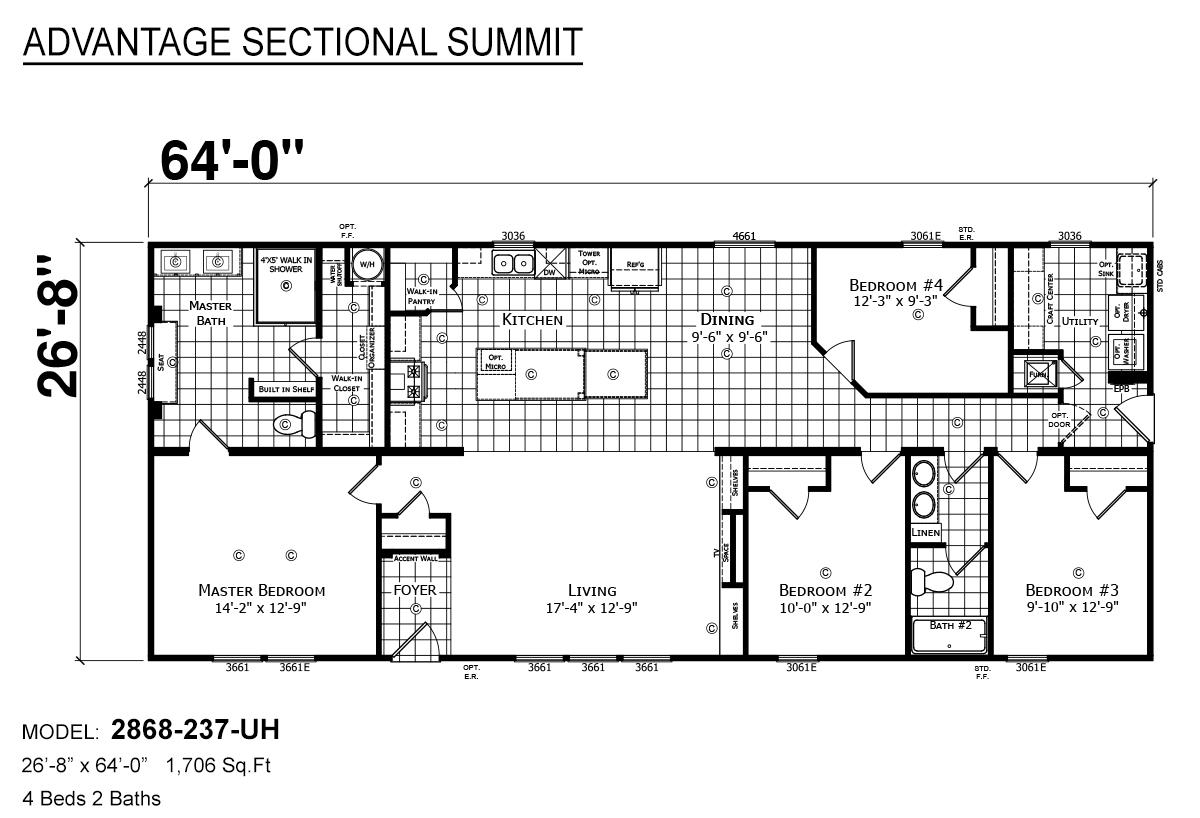 Advantage Sectional Summit - 2868-237-UH