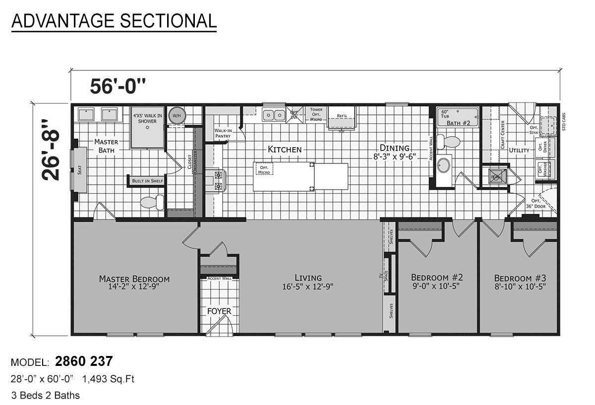 Advantage Sectional - 2860-237