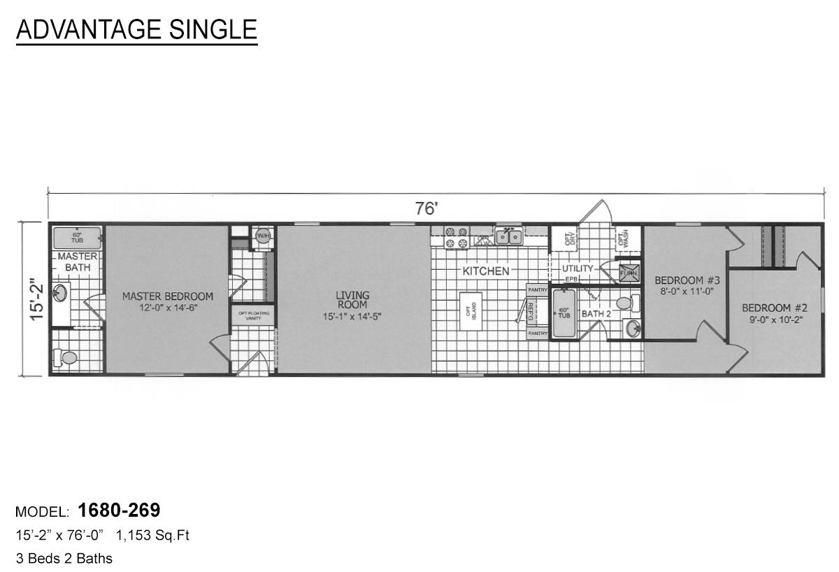 Advantage Single 1680-269 Layout