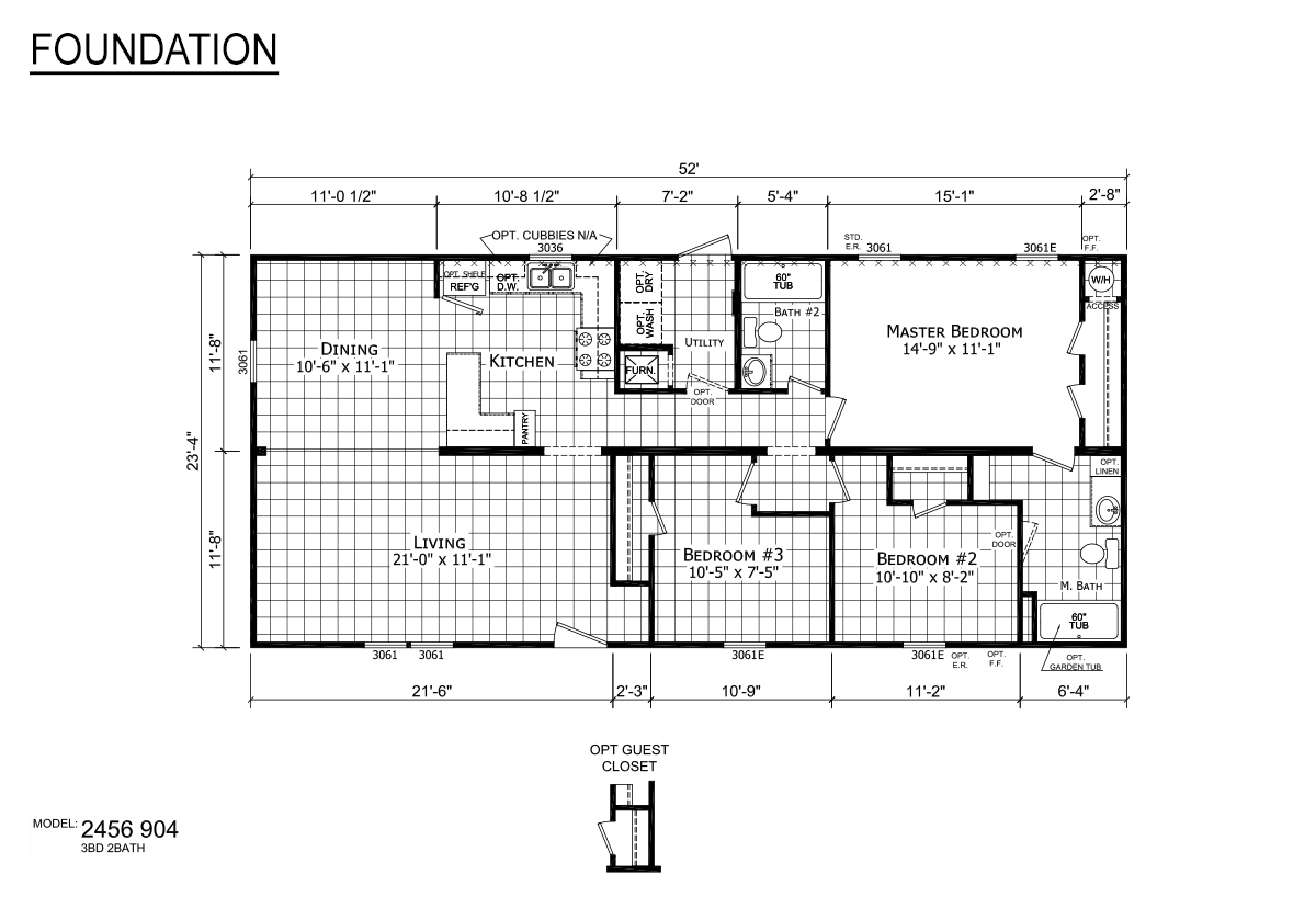 Foundation Sectional - 2456-904
