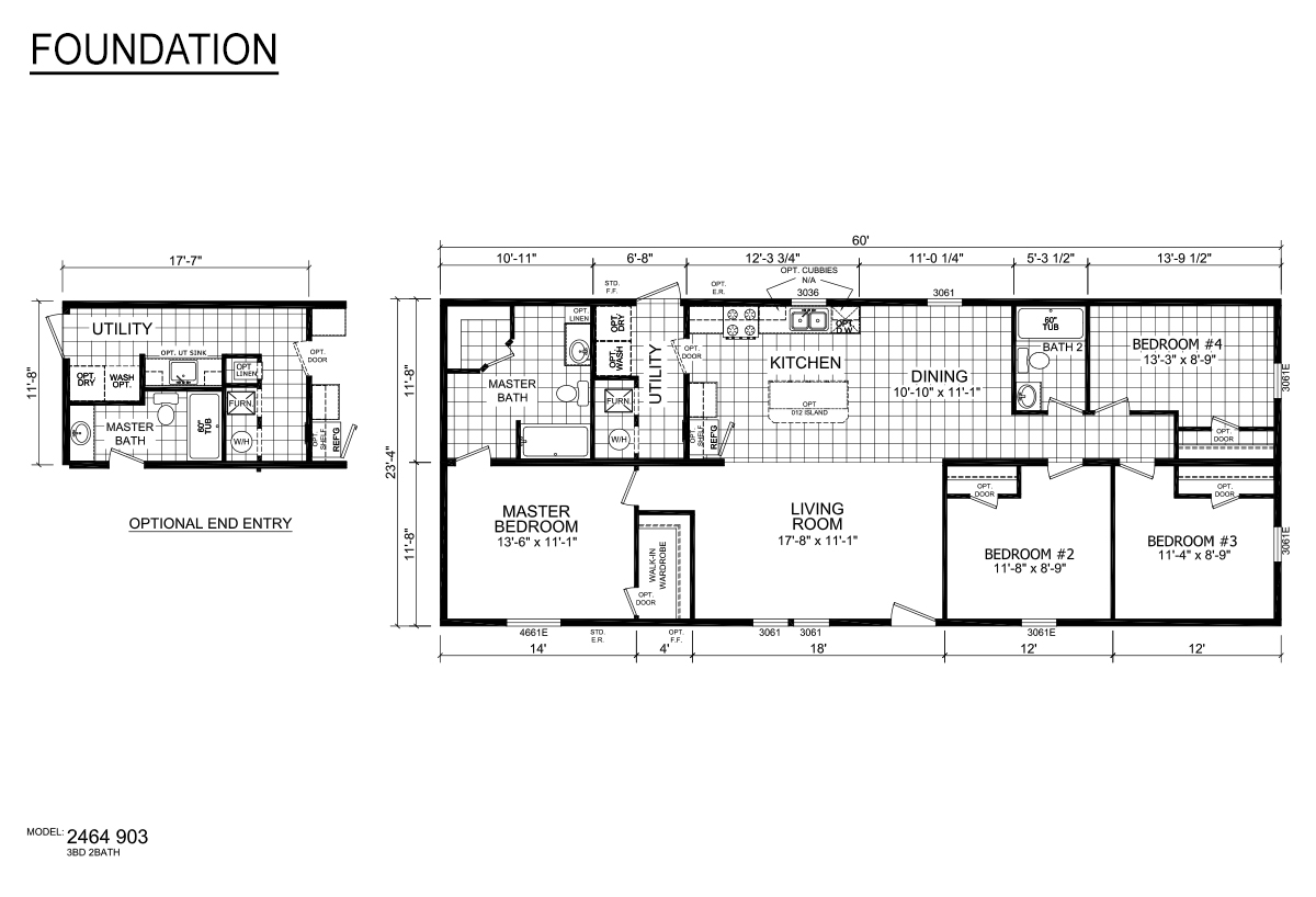 Foundation Sectional 2464-903 Layout