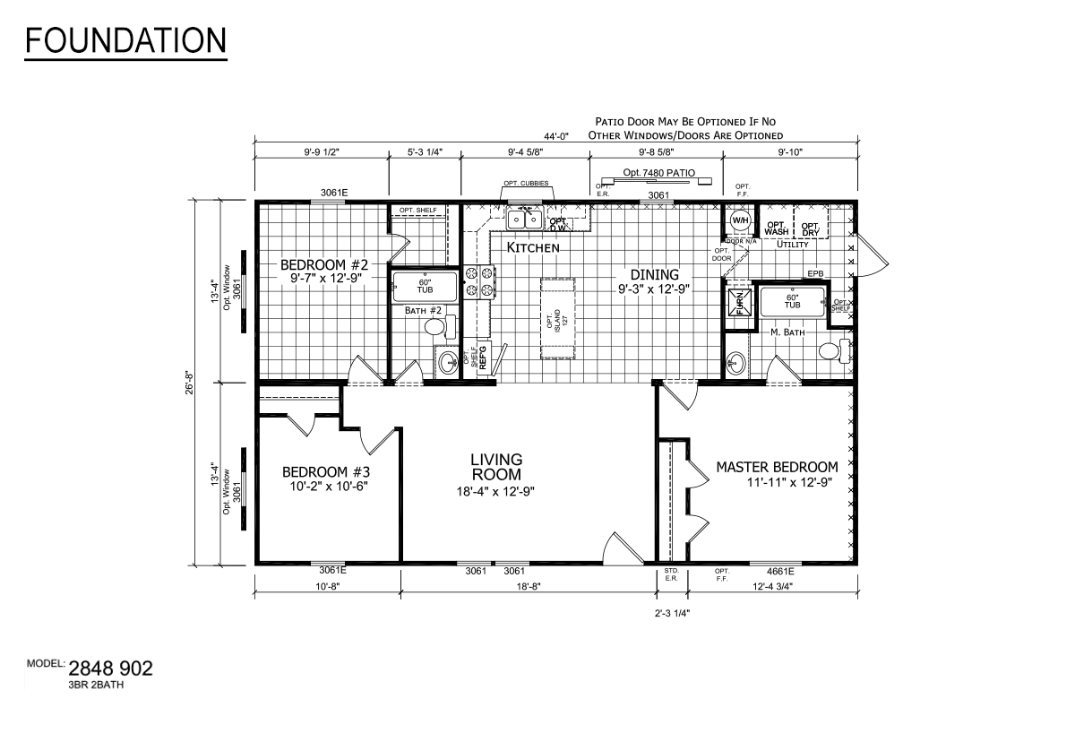 Foundation Sectional 2848-902 Layout